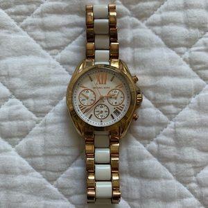 Michael Kors Rose Gold & White Women's Watch
